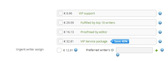 Essay writing service fees