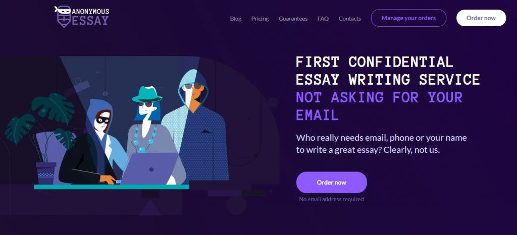 Anonymous paper writing service
