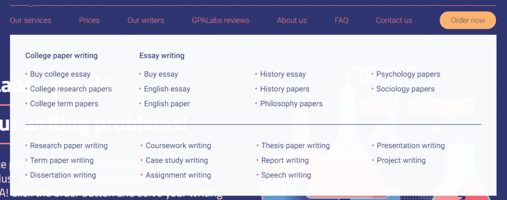GPALabs Review - Available Services