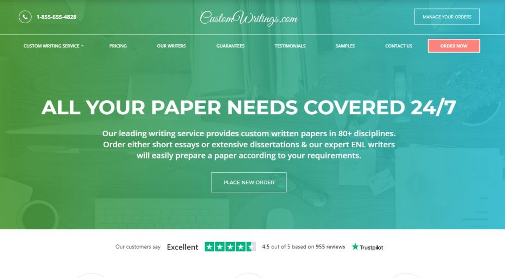 CustomWritings Review Main Page