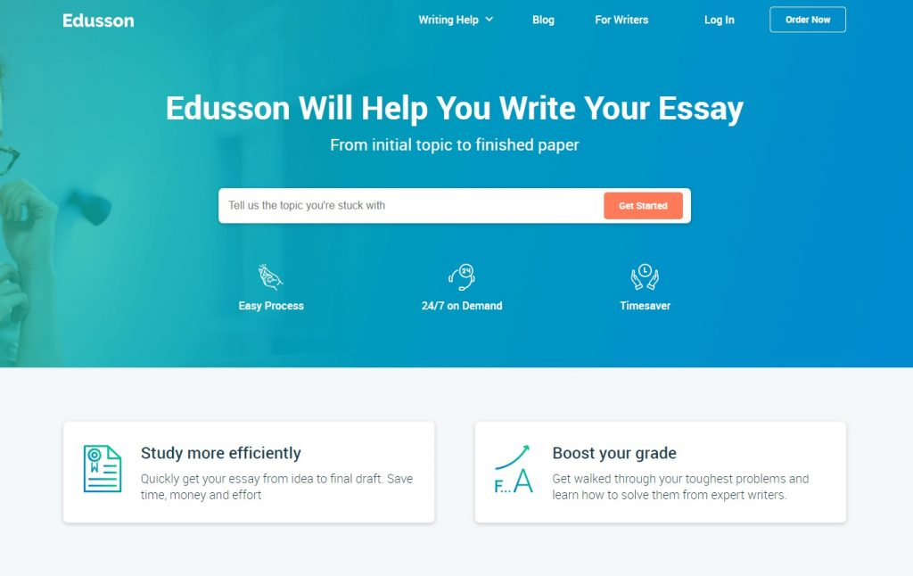 Edusson.com Main Page